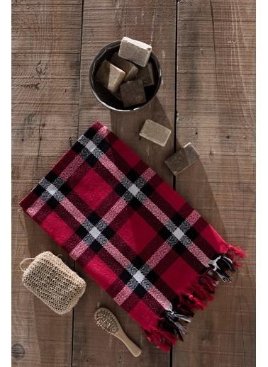 Eponj Home Peştemal 100x180 İskoç  Kırmızı